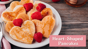 make heart-shaped pancakes