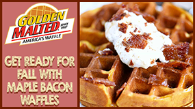 make maple bacon waffle