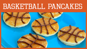 make basketball pancakes