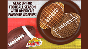 make football waffles