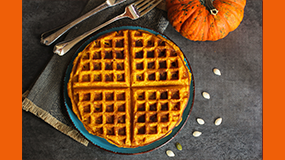 make pumpkin waffles