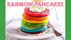 make rainbow pancakes
